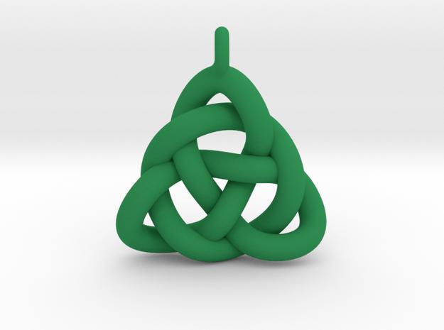 Celtic Weave in Green Processed Versatile Plastic