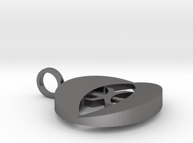 Pendant Eye in Polished Nickel Steel