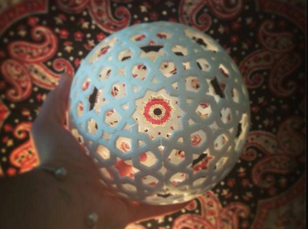 Great Rhombi Spirit Lamp in White Natural Versatile Plastic