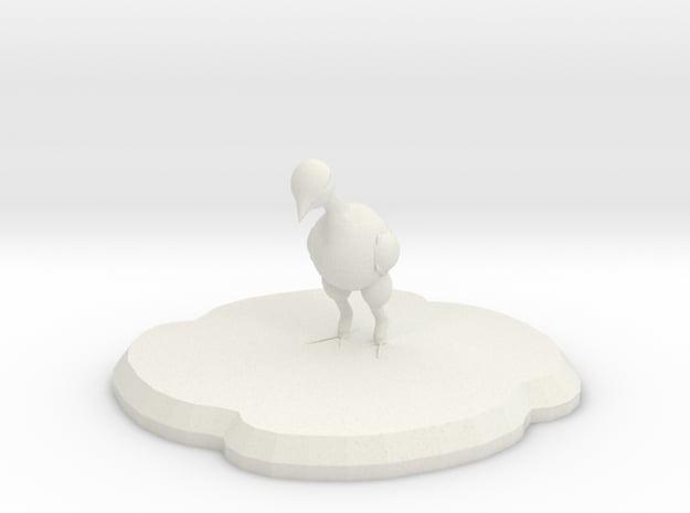 Pedda Figure in White Natural Versatile Plastic