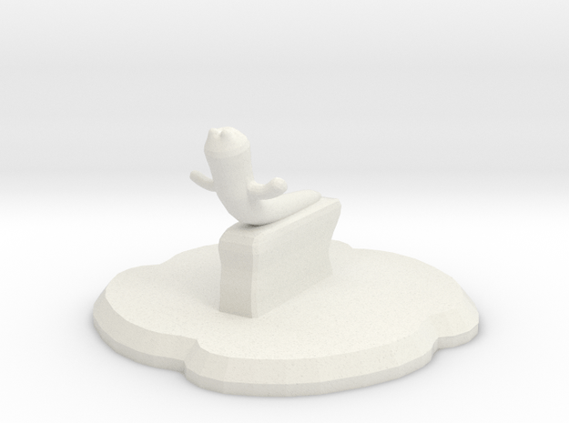 Mist Form in White Natural Versatile Plastic