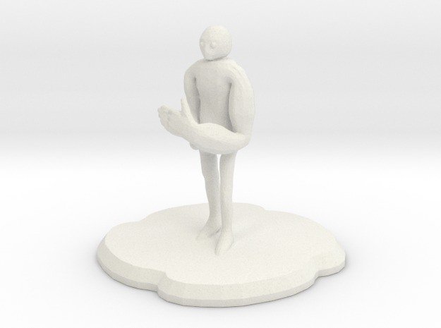 Armegon Figure in White Natural Versatile Plastic