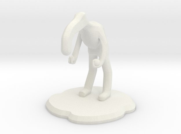 Amiably Nuetral Figure in White Natural Versatile Plastic