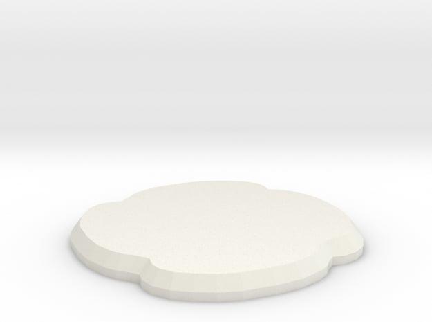Shade in White Natural Versatile Plastic
