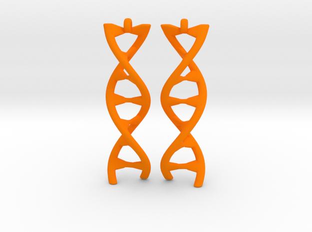 DNA Earring in Orange Processed Versatile Plastic