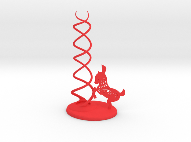 CheekyChi - Chopstick Holder (goat) small in Red Processed Versatile Plastic