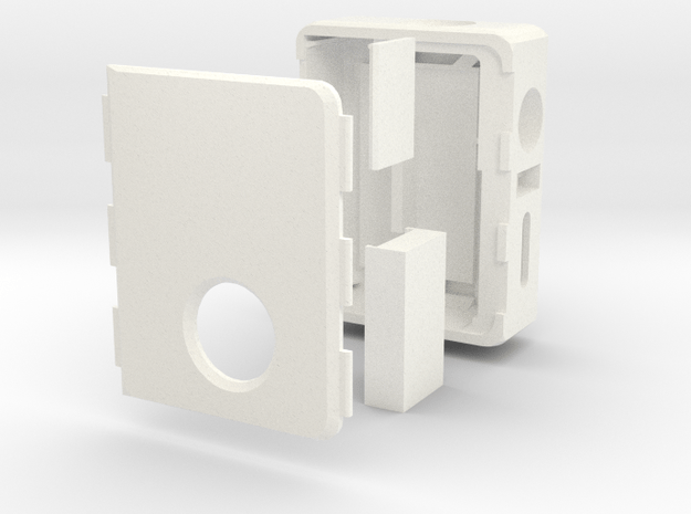 MARK VII B.F. -tactile switch (left) and 16mm fire in White Processed Versatile Plastic
