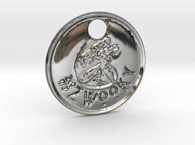 ZWOOKY Style 101 Sample - keychain alien in Fine Detail Polished Silver