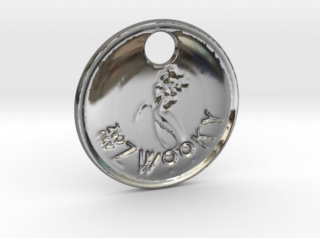 ZWOOKY Style 94 Sample - keychain mermaid in Fine Detail Polished Silver