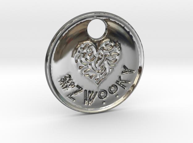 ZWOOKY Style 92 Sample - keychain heart in Fine Detail Polished Silver