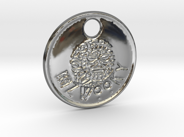 ZWOOKY Style 84 Sample - keychain head in Fine Detail Polished Silver
