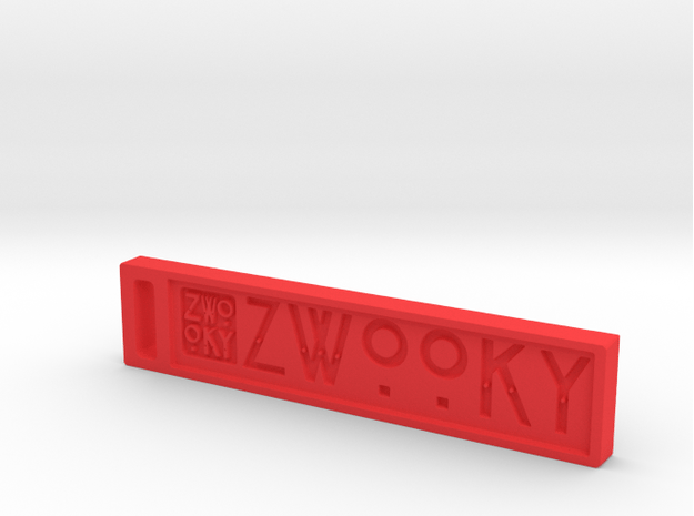 ZWOOKY Style 10 Sample in Red Processed Versatile Plastic