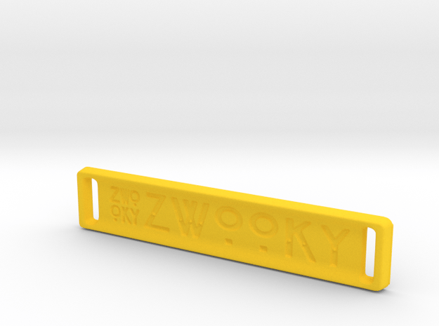 ZWOOKY Style 17 Sample - bag tag in Yellow Processed Versatile Plastic