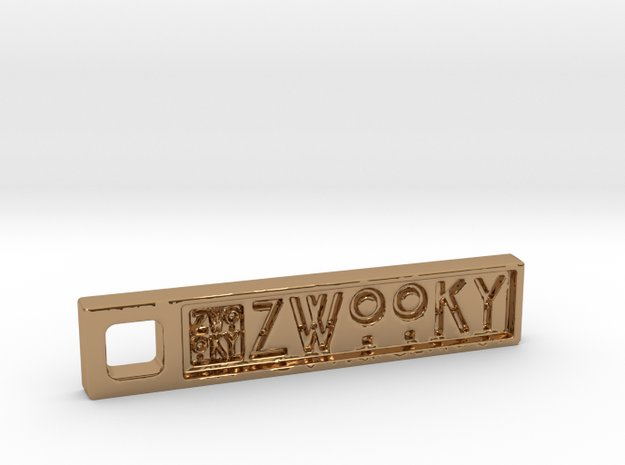 ZWOOKY Style 01 Sample in Polished Brass