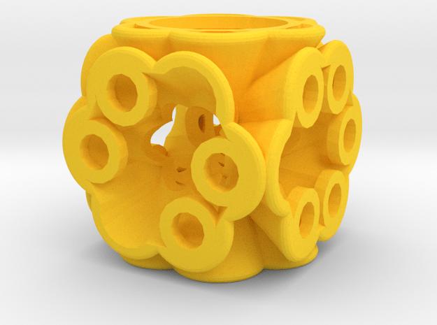Dice148 in Yellow Processed Versatile Plastic