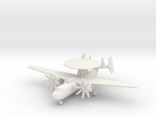 1/285 (6mm) E-2 Hawkeye  in White Natural Versatile Plastic