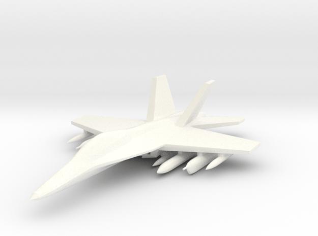 1/285 EA-18 Growler in White Processed Versatile Plastic