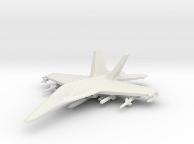 1/285 (6mm) F-18 Super -w/Conform Tanks w/ord-1 in White Natural Versatile Plastic
