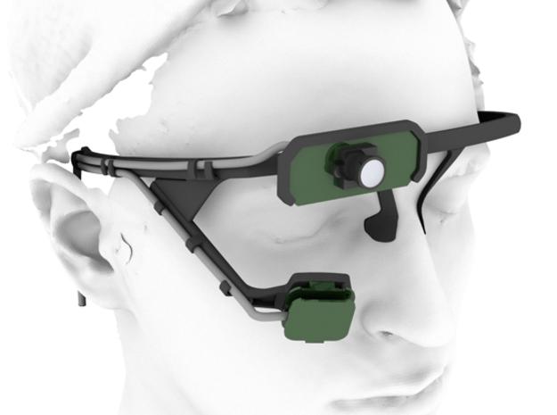Pupil mobile eye tracking headset in Black Natural Versatile Plastic