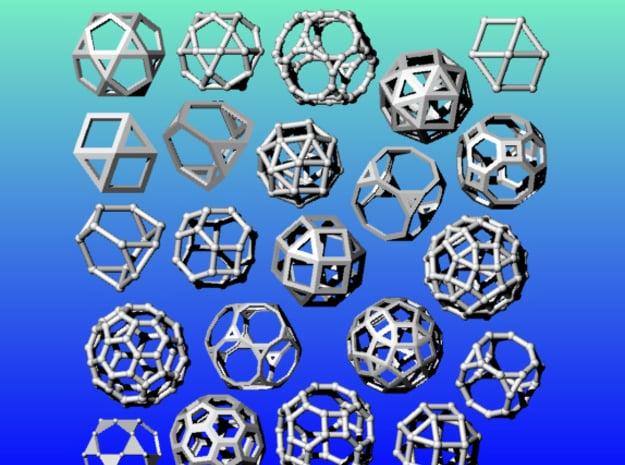 Geometrix Collection 1 in White Natural Versatile Plastic