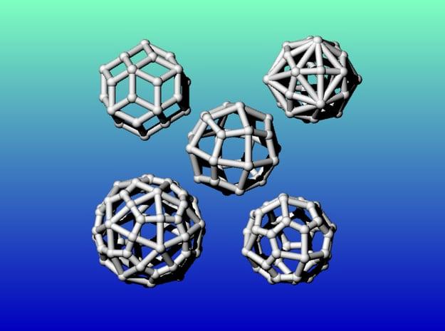 Geometrix Collection 3 in White Natural Versatile Plastic