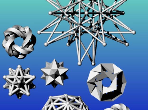 Geometrix Collection 5 in White Natural Versatile Plastic
