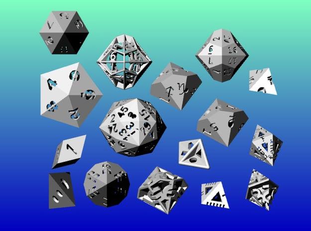 Geometrix Collection 7 in White Natural Versatile Plastic
