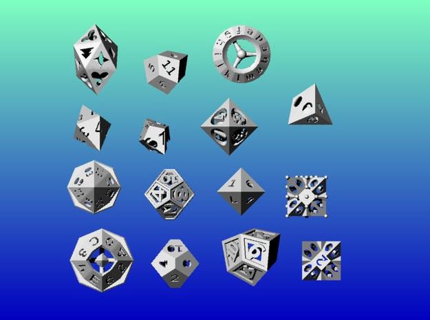 Geometrix Collection 8 in White Natural Versatile Plastic
