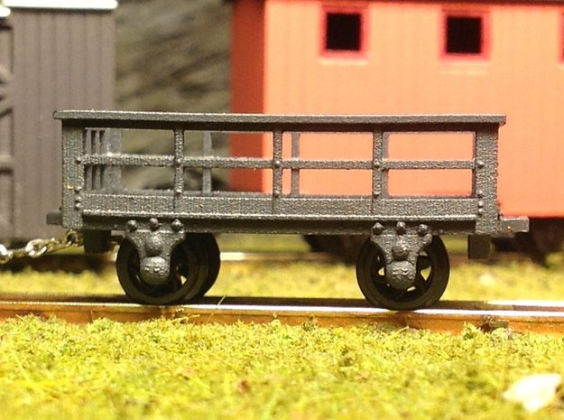 5x FR type 3t Slate Wagons (009) in Smooth Fine Detail Plastic