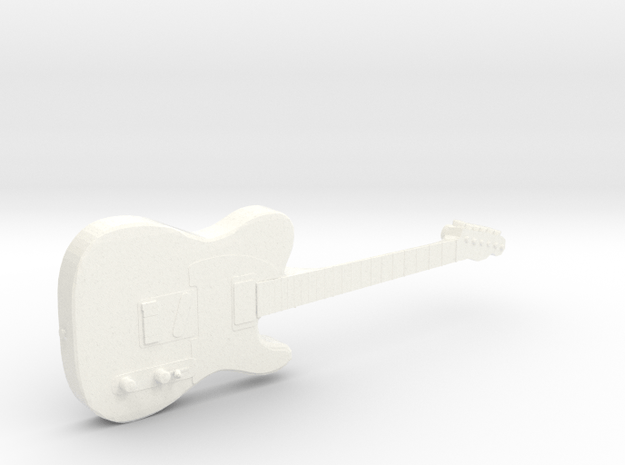 Telecaster Keith Richards The Rolling Stones in White Processed Versatile Plastic