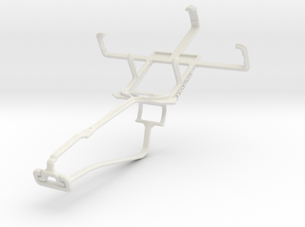 Controller mount for Xbox One Chat & HTC Touch in White Natural Versatile Plastic