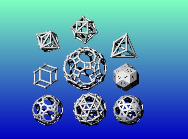 Geometrix Collection 2 in White Natural Versatile Plastic