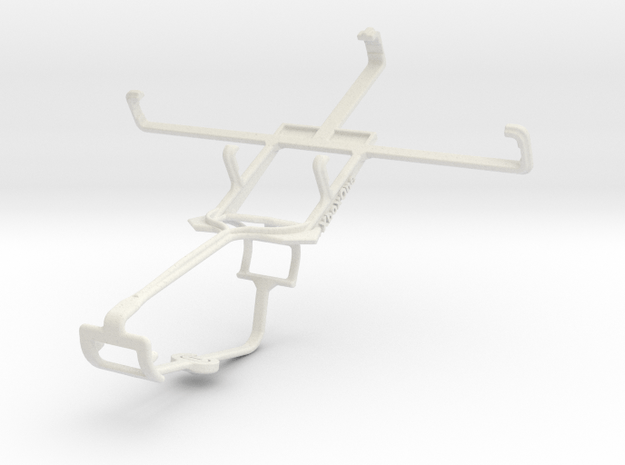 Controller mount for Xbox One & Huawei Ascend G600 in White Natural Versatile Plastic