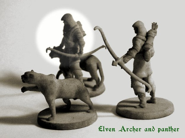 Elven Archer / Beastmaster in White Natural Versatile Plastic