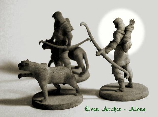 Elven Archer  (alone) in White Natural Versatile Plastic