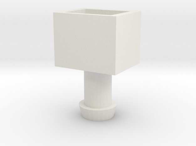 MP-22 Cab to MP-10 Trailer Adapter. in White Natural Versatile Plastic