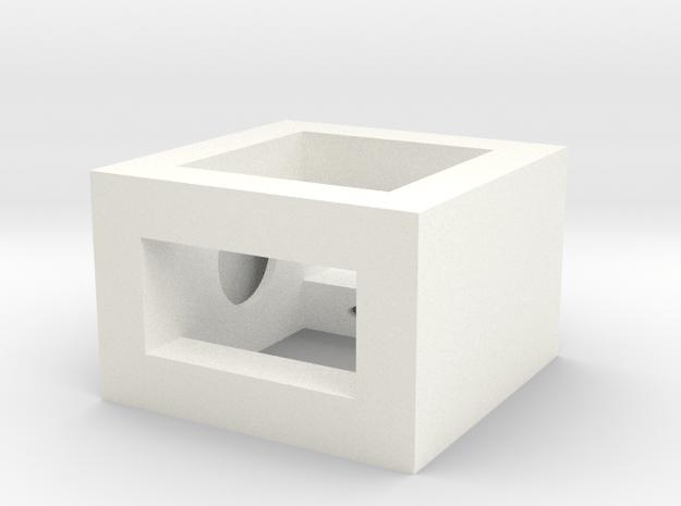 Railbox Mini Part 1 in White Processed Versatile Plastic