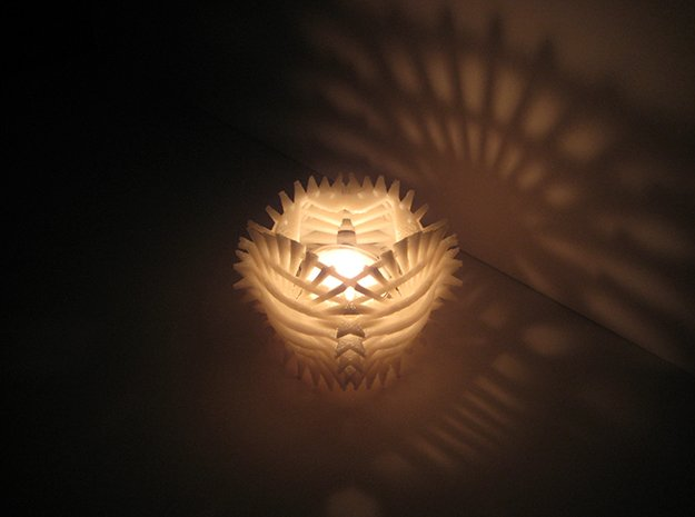 Sun Candle by Jeff Hosford in White Natural Versatile Plastic