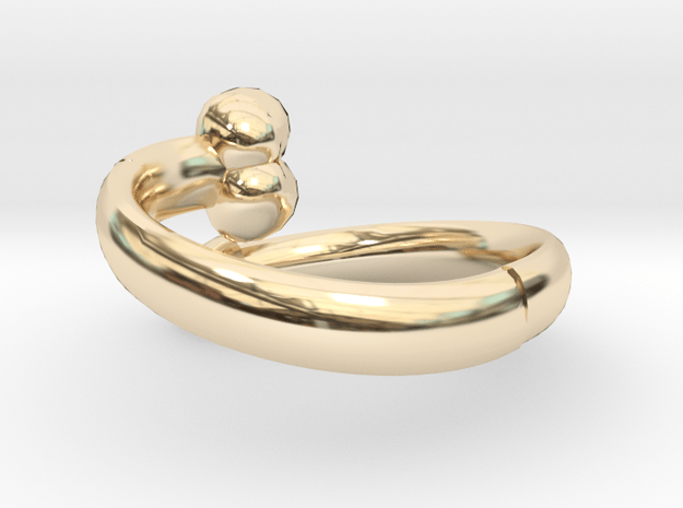 The D Ring - Sz.10 in 14K Yellow Gold