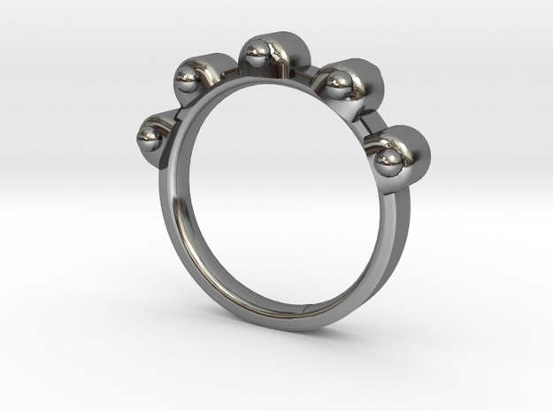 Jester Ring - Sz. 7 in Fine Detail Polished Silver