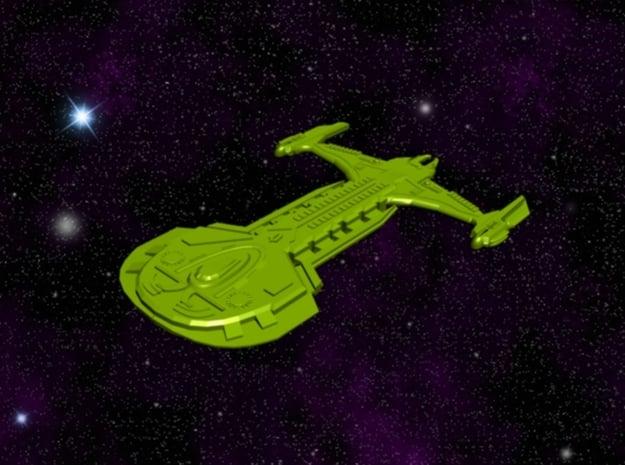 Mirror Universe Klingon Cardassian Hybrid Ship ( A in White Natural Versatile Plastic