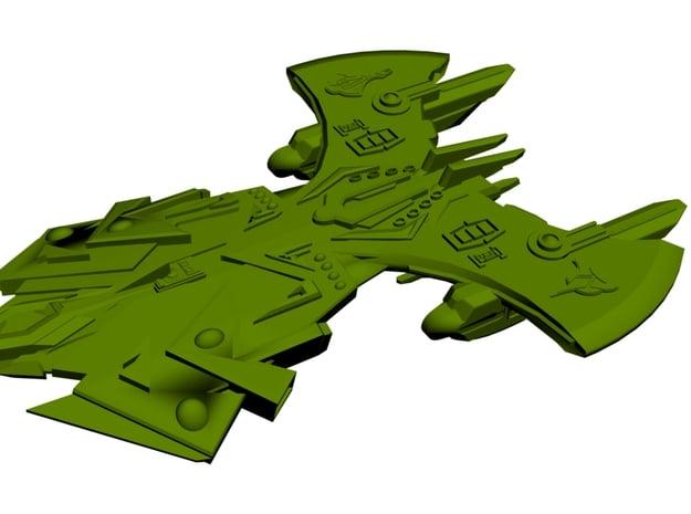 Mirror Universe Klingon Cardassian Hybrid II ( Hvy in White Natural Versatile Plastic