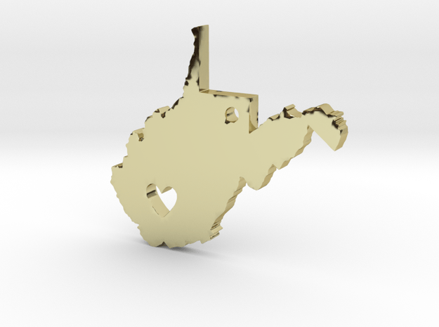 I Heart West Virginia Pendant in 18K Gold Plated