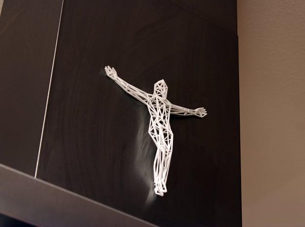 Jesus Christ in White Natural Versatile Plastic