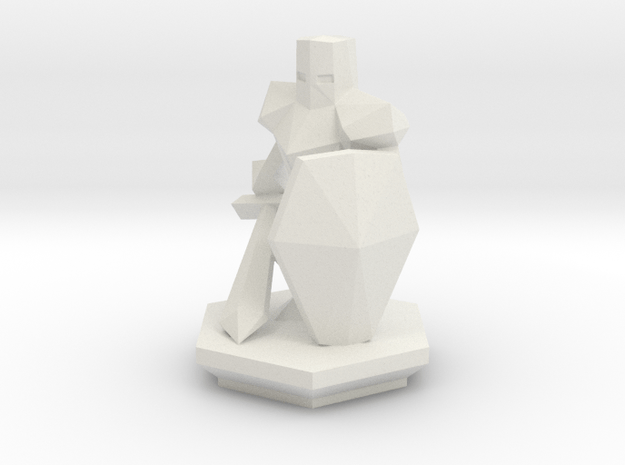 Low Poly Knight (Table-Top Alliance Base Unit) in White Natural Versatile Plastic
