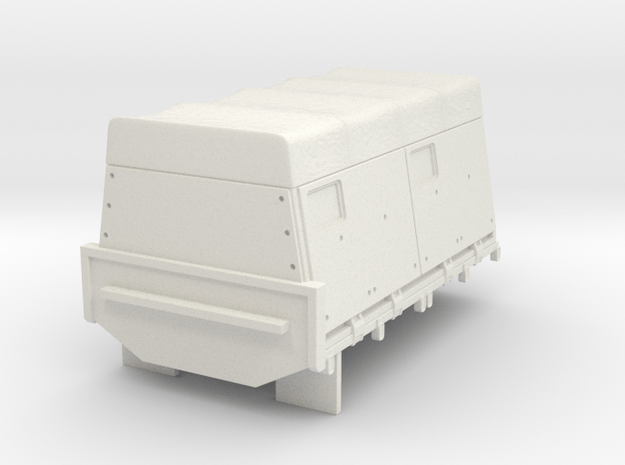~1/87 MTVR armoured-rear-v2 (repaired) in White Natural Versatile Plastic