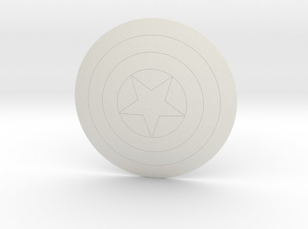 Captain America Shield in White Natural Versatile Plastic