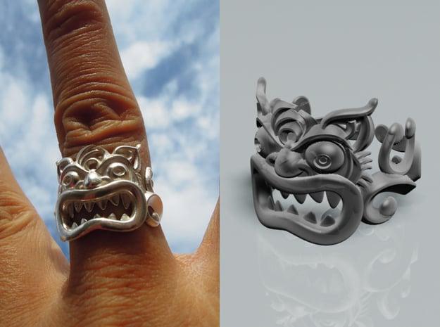 Shi-sa Ring 01 in Polished Silver