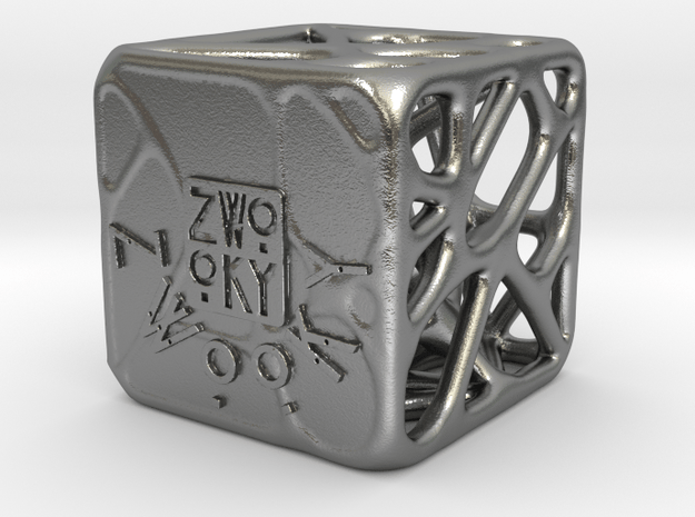 ZWOOKY Style 3300  -  Cubic voronoi in Natural Silver