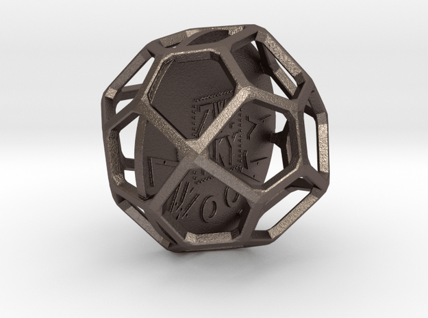 ZWOOKY Style 3403  -  Sphere in Polished Bronzed Silver Steel